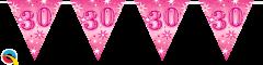 Zastavice 30 Pink Sparkle 3,6m (16 zastavica)