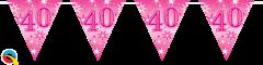 Zastavice 40 Pink Sparkle 3,6m (16 zastavica)