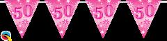 Zastavice 50 Pink Sparkle 3,6m (16 zastavica)