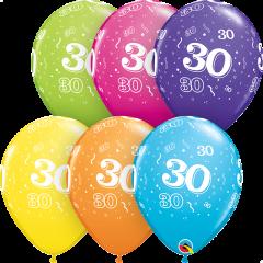 Lateks baloni 28cm 30 A Round Tropical Ast