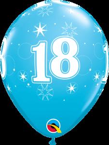 Lateks baloni 28cm 18 Sparkle Robins Egg
