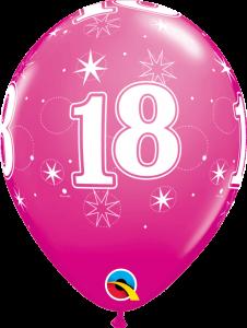 Lateks baloni 28cm 18 Sparkle Wild Berry