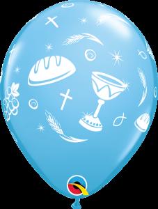 Lateks baloni 28cm Communion Elements Pale Blue