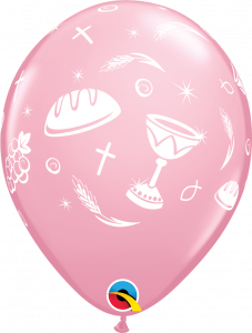 Lateks baloni 28cm Communion Elements Pink