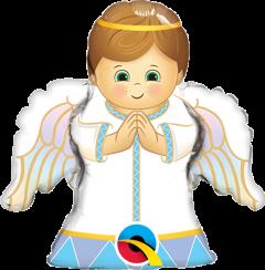 Mini Angel Boy folijski balon na štapiću