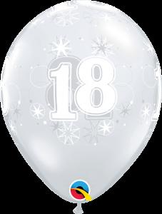 Lateks baloni 28cm 18 Sparkle DC
