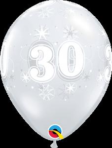 Lateks baloni 28cm 30 Sparkle DC