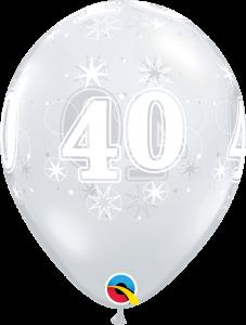 Lateks baloni 28cm 40 Sparkle DC