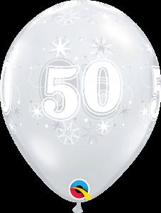 Lateks baloni 28cm 50 Sparkle DC