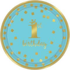 1st Birthday Blue & Gold tanjuri 18 cm