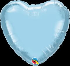 Mini Srce folijski balon na štapiću 22,5cm - Light Blue