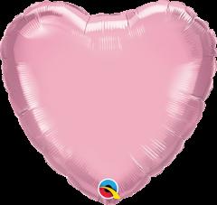 Mini Srce folijski balon na štapiću 22,5cm - Pearl Pink
