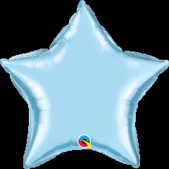 Mini Zvijezda folijski balon na štapiću 22,5cm - Pearl Light Blue