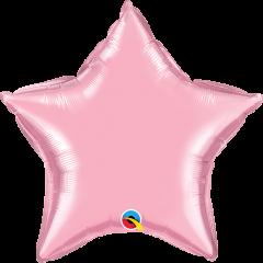 Mini Zvijezda folijski balon na štapiću 22,5cm - Pearl Pink