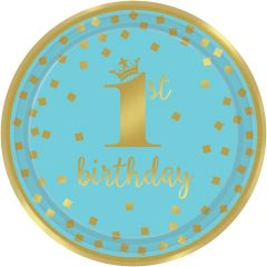 1st Birthday Blue & Gold tanjuri 23 cm