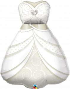 Maxi Bride`s Wedding Dress folijski balon