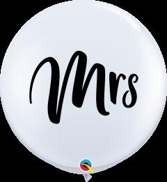 Lateks baloni 90cm Mrs. White