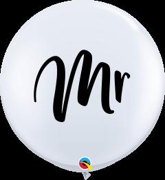 Lateks baloni 90cm Mr. White