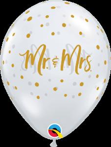 Lateks baloni 28cm Mr.&Mrs. Dots DC