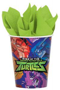 Rise Of The Teenage Mutant Ninja Turtles čaše 266ml
