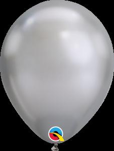 Lateks baloni 28cm Chrome Silver