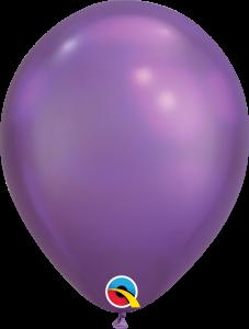 Lateks baloni 28cm Chrome Purple