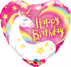 Mini Bday Magical Unicorn folijski balon na štapiću