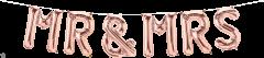 Mini folijski balon natpis Mr & Mrs Rosegold
