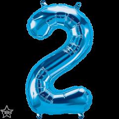 Mini folijski balon broj 2 Blue