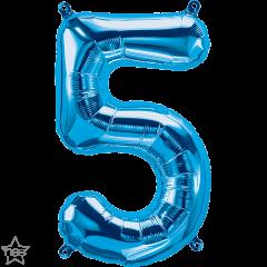 Mini folijski balon broj 5 Blue