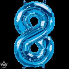 Mini folijski balon broj 8 Blue