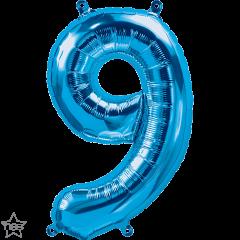 Mini folijski balon broj 9 Blue
