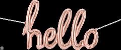 Natpis Hello RoseGold folijski balon