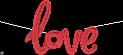 Natpis Love Red folijski balon