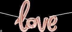 Natpis Love Rosegold folijski balon