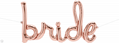 Natpis Bride Rosegold folijski balon