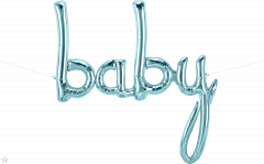 Natpis Baby Pastel Blue folijski balon