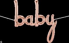 Natpis Baby RoseGold folijski balon