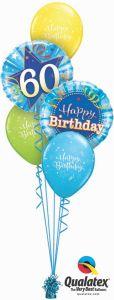 Buket balona 60th Birthday Shining Star Blue