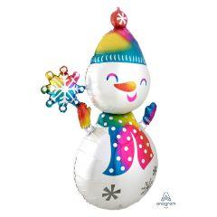 Maxi Satin Infused Snowman folijski balon