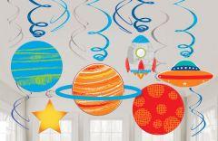 Blast off Birthday viseća dekoracija
