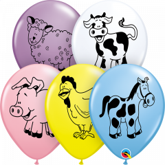 Lateks baloni 28cm Farm Animal Special Ast