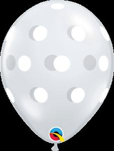 Lateks baloni 28cm Big Polka Dots DC