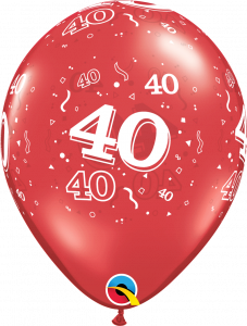 Lateks baloni 28cm 40 A Round Ruby Red