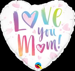 Standard Love You Mum! folijski balon