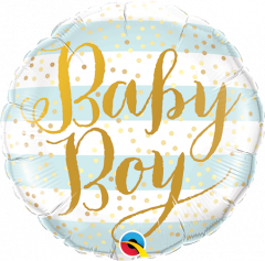 Mini Baby Boy Blue Stripes folijski balon na štapiću