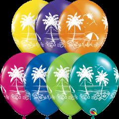 Lateks baloni 28cm Tropical Vistas Fantasy Ast