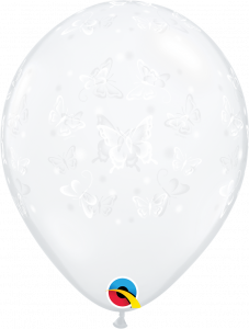 Lateks baloni 13cm Butterflies DC