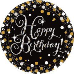 Happy Birthday Sparkling Celebrations tanjuri 23cm