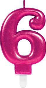 Rođendanska svjećica broj 6 Ciklama